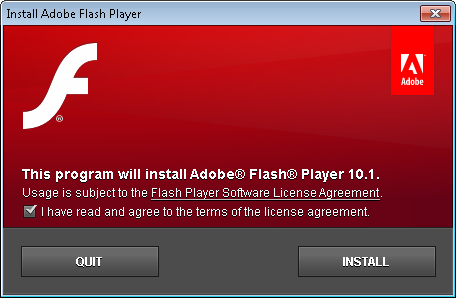 Flash Player 10.1 Kurulum