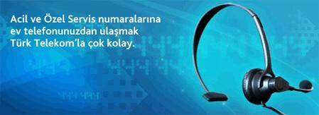 Türk Telekom Servis Numaraları