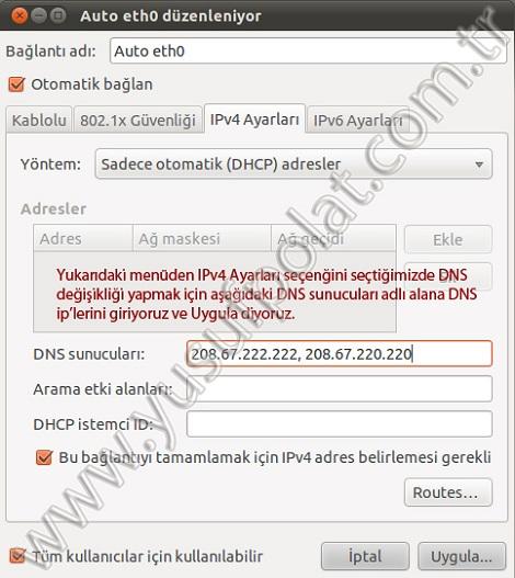 Ubuntu 10.10 DNS Değiştirme 3