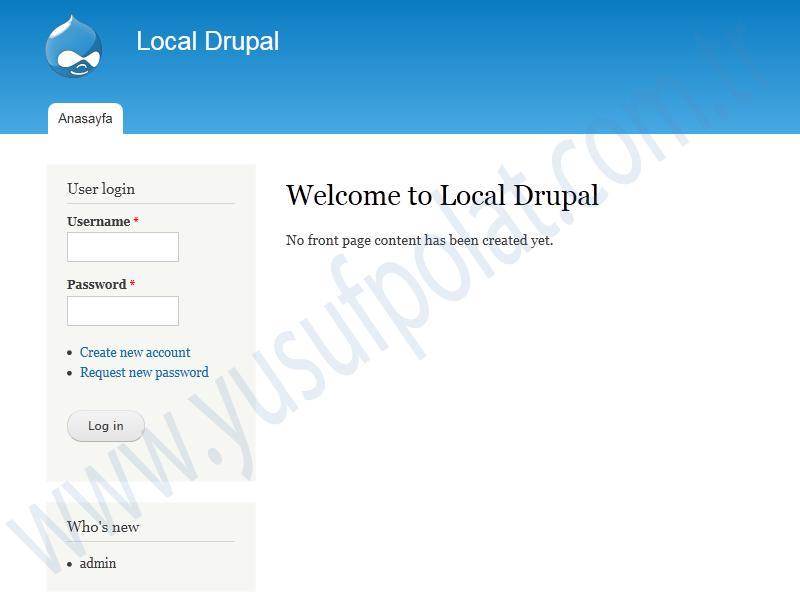 Drupal 7 Install 8