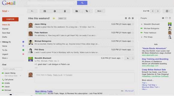 Gmail İçin Yeni Arayüz 1