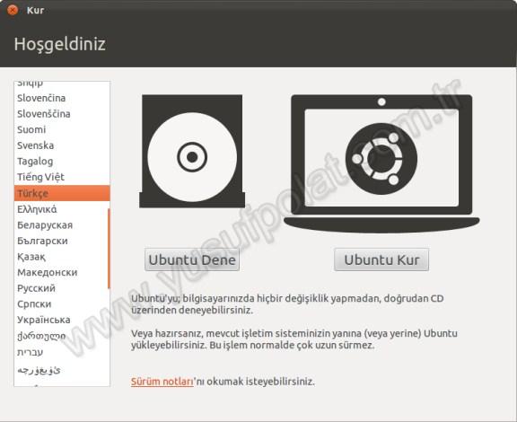 Ubuntu 11.10 Kurulum 1
