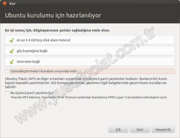 Ubuntu 11.10 Kurulum 2
