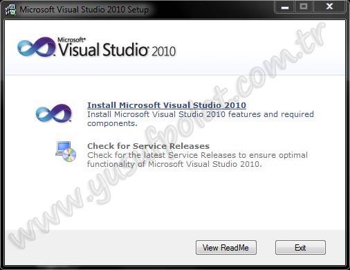 Visual Studio 2010 Kurulumu Resimli Anlatım 1