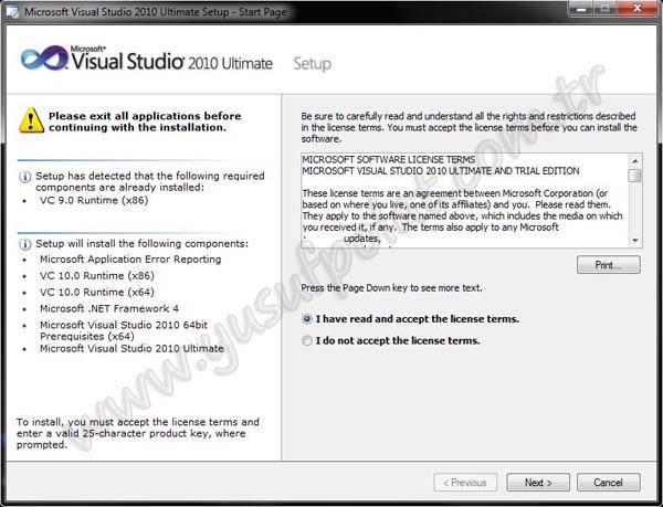 Visual Studio 2010 Kurulumu Resimli Anlatım 4