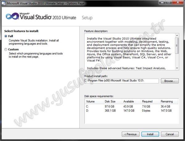 Visual Studio 2010 Kurulumu Resimli Anlatım 5