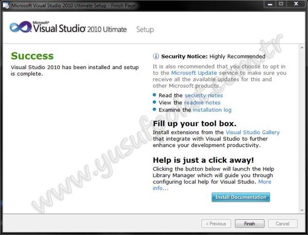 Visual Studio 2010 Kurulumu Resimli Anlatım 8