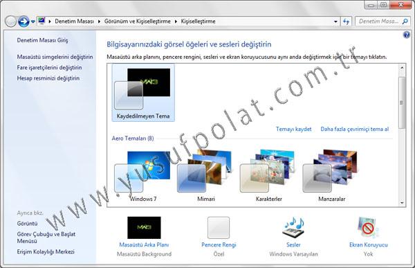 Windows 7 Starter Masaüstü Arkaplan Değiştirme