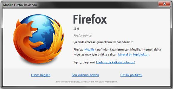 Mozilla Firefox 11 Sürümü Çıktı