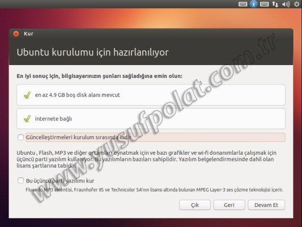 Ubuntu 12.10 Kurulum 4