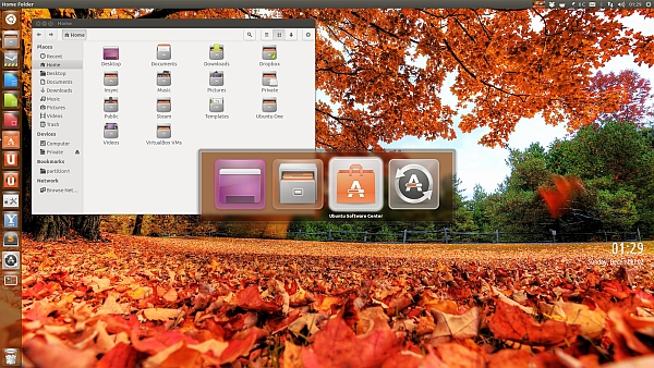 Ubuntu 13.04 Ekran Görüntüsü
