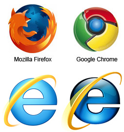 Firefox Chrome İnternet Explorer