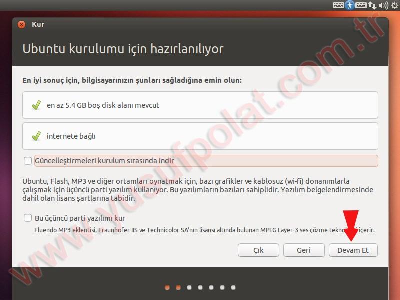 Ubuntu 13.04 Kurulum 2