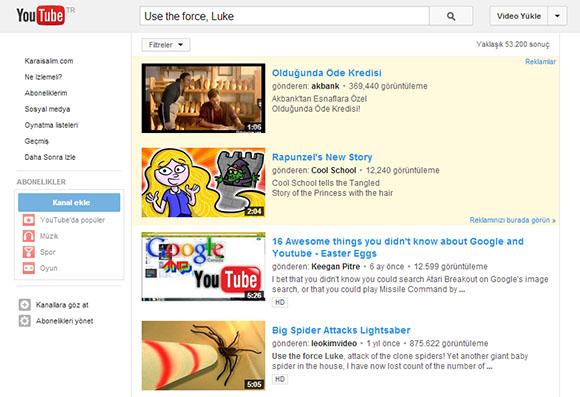 Youtube İlginç Arama Hileleri 1