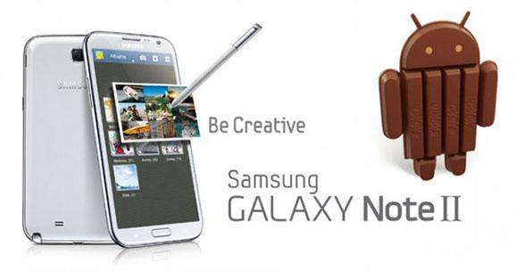 Samsung Galaxy Note 2 Android 4.4 Güncellemesi Geldi