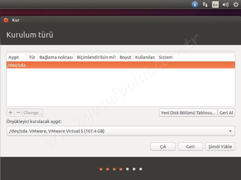 Ubuntu 14.04 Kurulum 5